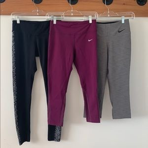 Nike Dri Fit Lot of running bottoms - Size Small